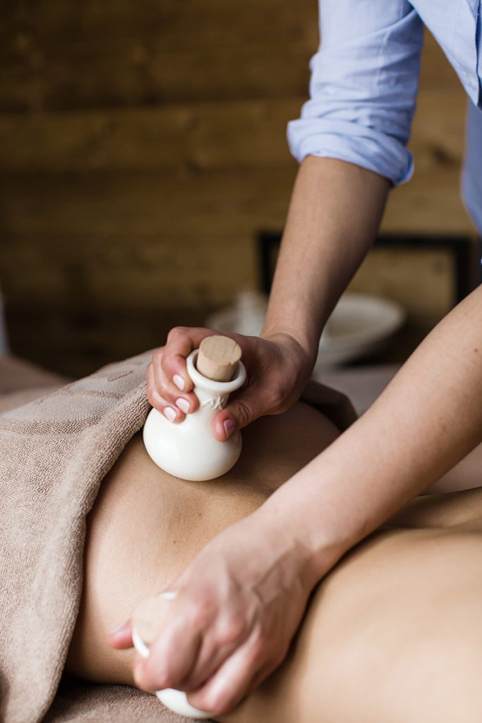 Akwaterra massage with pods